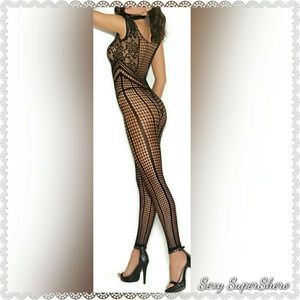50dbd3782cd Sexy SuperShero Intimates   Sleepwear - 🆕Sexy Footless Crochet Bodystocking  Lingeire
